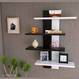 Stylish wooden shelves