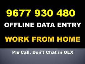 Call: 967793O48O. Govt. Regd. OFFLINE DATA ENTRY Part Time HOME Jobs!