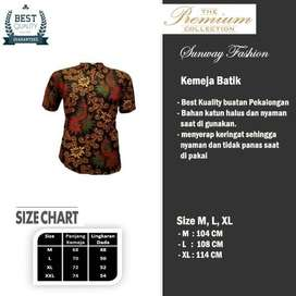 AM0074 Harga Promo COD Baju Kemeja Batik cowok Pria Kualitas terjamin