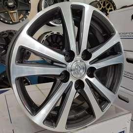 Velg Toyota Ring 16x7.0 pcd 5x114.3 buat mobil Toyota Noxy