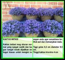 Bunga Hias Plastik Mug Tanaman Kaktus