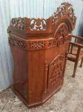 mimbar masjid kayu jati berkualitas 019