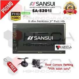 Sansui 2din deckles free kamera dan pasang