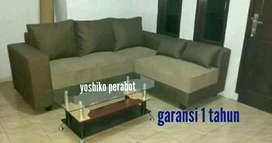 Yoshiko - sofa L saga khaky