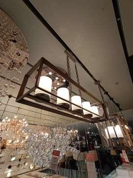 KREDIT PENDANT LAMP COLONIAL 5L LONG BRUSHDGREY