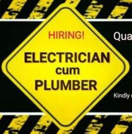 Electrician cum Plumbers at Ernakulam