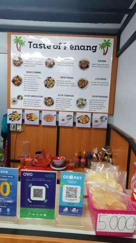 Mencari karyawan utk jaga outlet makanan (½hari)