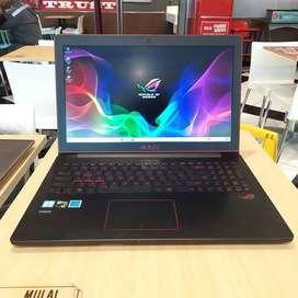 Laptop ASUS ROG i7 RAM 12GB SSD 256GB bekas second