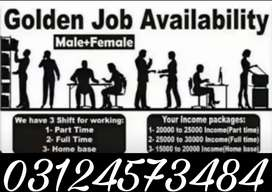 Part-Time/Full-Time/Home-Base job available in Lahore.