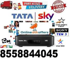Set-up Box (DTH)Tata Sky HD-SD With Cash on Delivery & Free Installing