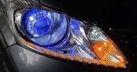 Hid lampu projektor/hid projie jazz,pajero,fortuner,mazda,mobilio,hrv