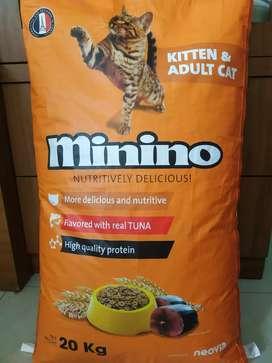 Makanan kucing 'Minino'