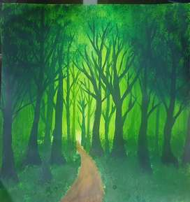 Arcylic painting|GreenForest