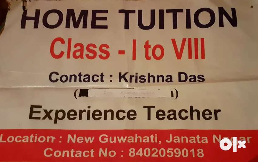 Home Tutor need for student 0
