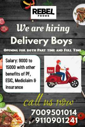 Delivery boy required for Delivery food