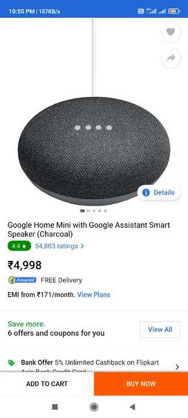Google Home Mini with Google Assistant Smart Speaker