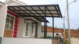 $$00025$$ canopy minimalis rangka tunggal tiang variasi atap alderon
