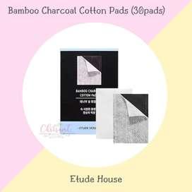 Etude House Bamboo Charcoal Cotton Pads Kapas wajah 30pcs Original