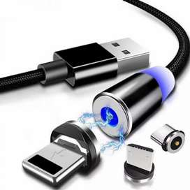 Magnet Cable 3in1 Type c android iphone All in one