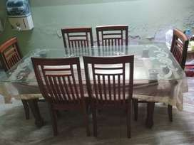 Six chair Dining Table (size 6×3)
