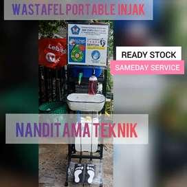 Jual tempat cuci tangan tnpa sentuh(wastafel portable,portabel,injak)