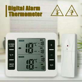 Termometer Digital Wireless dengan Sensor Alarm 30m Multifungsi