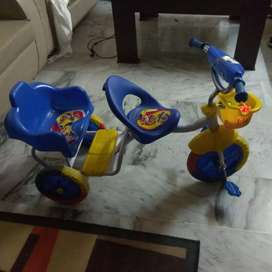 Double seat baby cycle