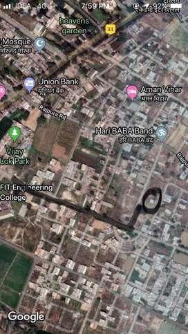 291sq yard plot near FIT College Mawana Road