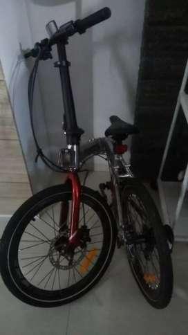 sepeda lipat like new bahan alumunium