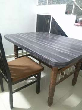 Square dining set sunmica coating.