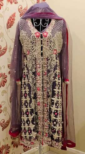 Heavy gown shirt with dapka Cora work