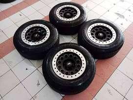 Velg Second Racing Ford Everest Ring 17 HSR Pcd 6x139.7 + Ban Dunlop