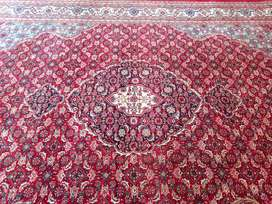 Handknotted Woolen Carpet,Red Colour