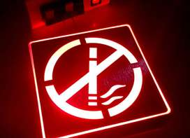 LED Sign Square No Smoking