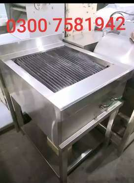 Charcoal grill 2by2 stainless steel non magnetic fast food pizza oven