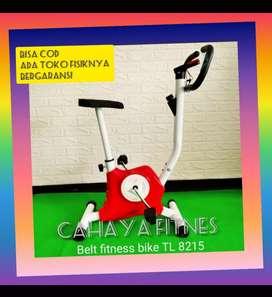alat fitnes sepeda statis belt fitnes tl 8215 bergaransi