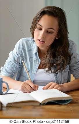 Offline handwriting work