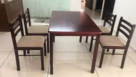 Sofa, teapoy and dining table set for sale (less than a year old)