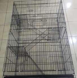 Kandang kucing besi 90x60x130cm 3 susun baru