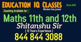 Maths Tution at Education IQ by Shitanshu Sir 12 yr. Exp.