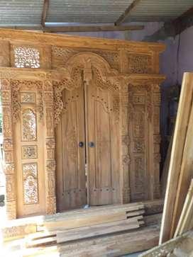 Mebel Furniture kusen pintu gebyok gapura jendela ready tanpa dp jati