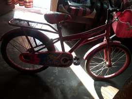 Child bicycle pink color