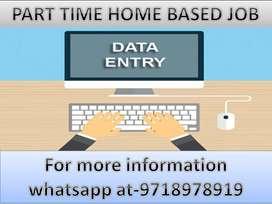 Ad Posting, Data Entry Job, part-time job,typing work home based job