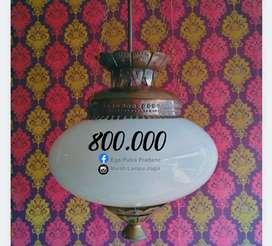 Lampu Gantung Kuningan Antik Klasik Katrol Jawa Hias Joglo Gebyok