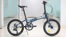 Sepeda Lipat 20 Element Police Texas New L Alloy Hidrolik 8 Speed