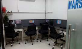 2- cabin + 7 work station fully furnished office rent in noida