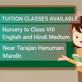 TUTION CLASSES AVAILABLE