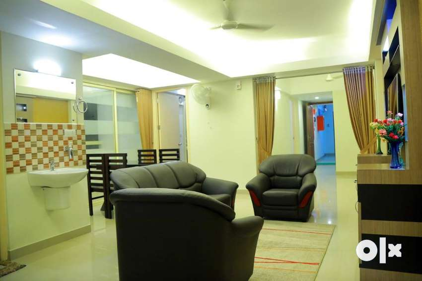 3BHK fully furnished apartment for rent in Kazhakuttom 0