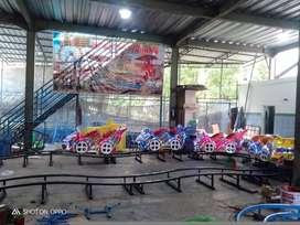 Mainan anak pasar malam kereta rel bawah lantai mino roller coaster 11