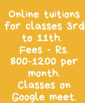 Online tuitions in minimum cost